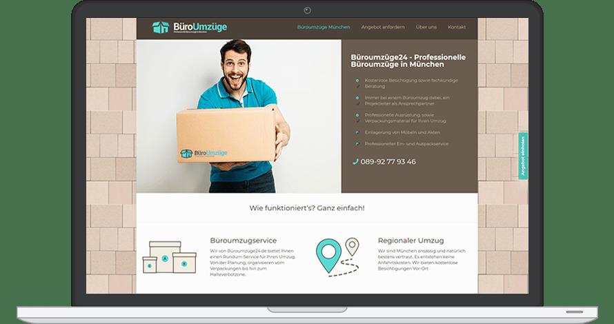 Website zu verkaufen mit Domain Büroumzüge München